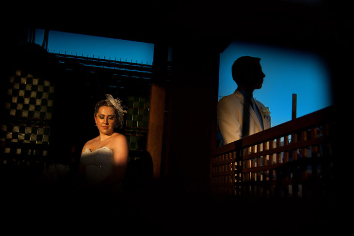 Creative portrait beautiful light at Azul Fives Wedding