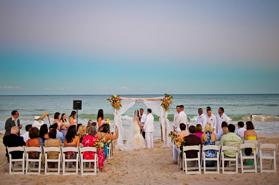 Beautiful sunset ceremony, Mayakoba beach