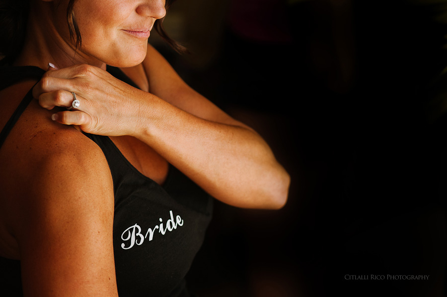 Bride getting ready Beach wedding SC Dreams Riviera Maya Mexico