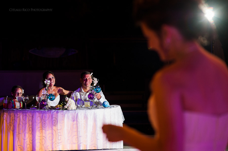 Bridesmaid speech Beach wedding SC Dreams Riviera Maya Mexico