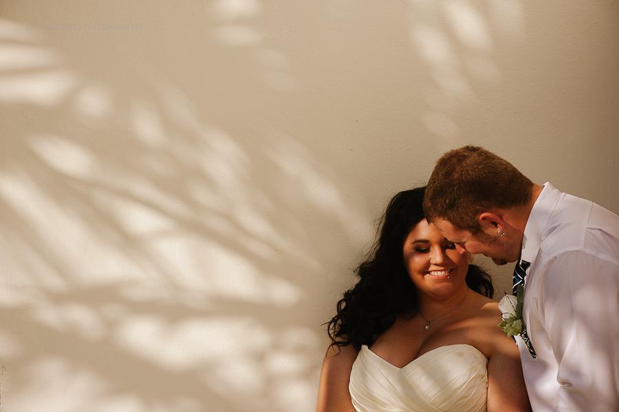 Bride and groom portrait Cancun mexico beach wedding SJ Bay Blue Grand
