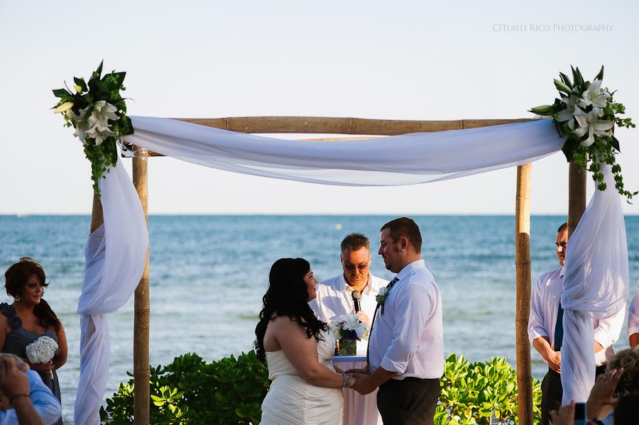 Beach ceremony Cancun mexico beach wedding SJ Bay Blue Grand