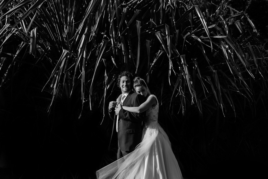 Bride and groom Portrait Black and white SC-Boda-Cancun-049