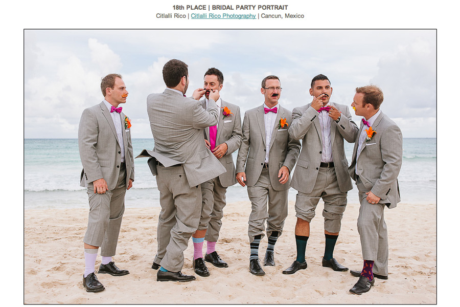 Spring 13 Bridal Party Portrait Grom and groomsmen Mustache Funny ISPWP