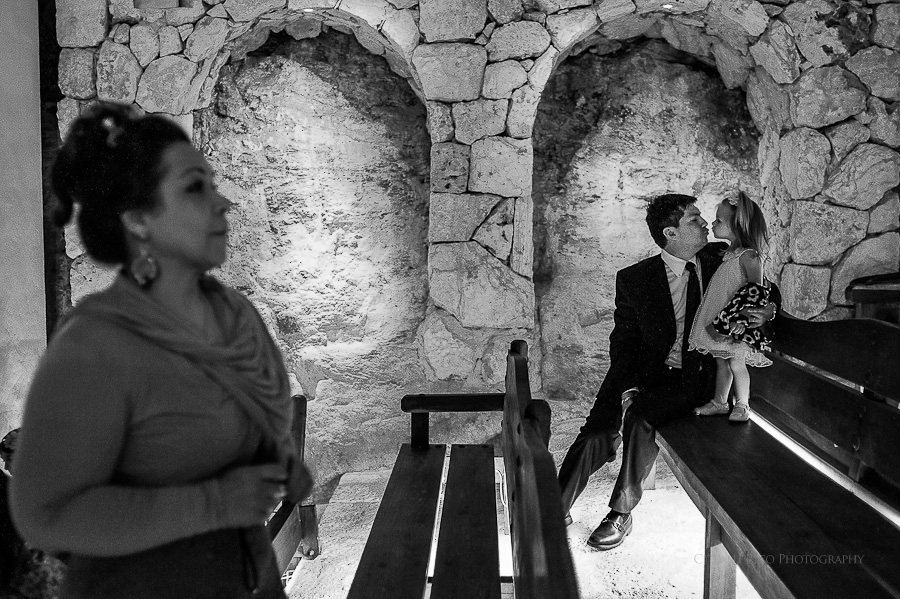 Ceremony moments black and white GT Xcaret Wedding Photos