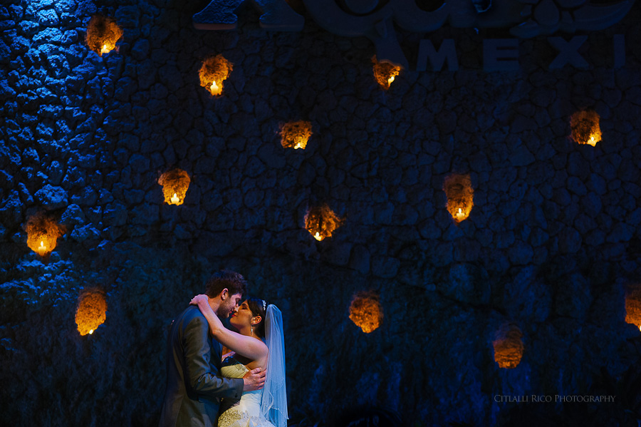Bride and groom first dance Xcaret Wedding Photos