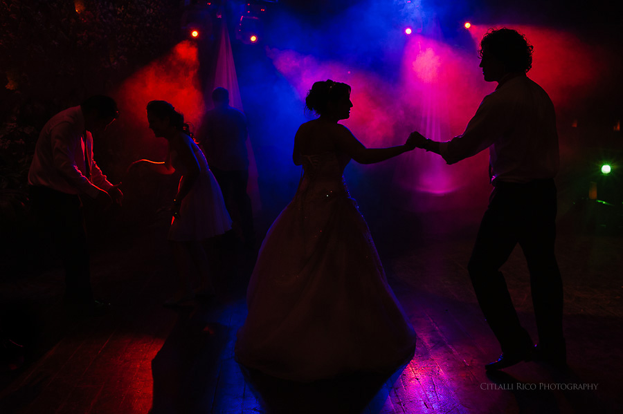 Bride and groom dancing Silhouettes GT Xcaret Wedding Photos