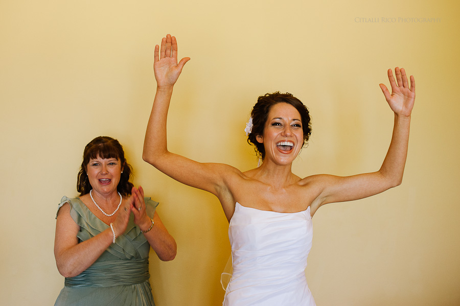 Bride getting ready Wendy Adam Beach wedding Dreams Tulum