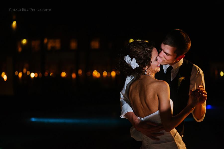 Bride and groom first dance Wendy Adam Beach wedding Dreams Tulum