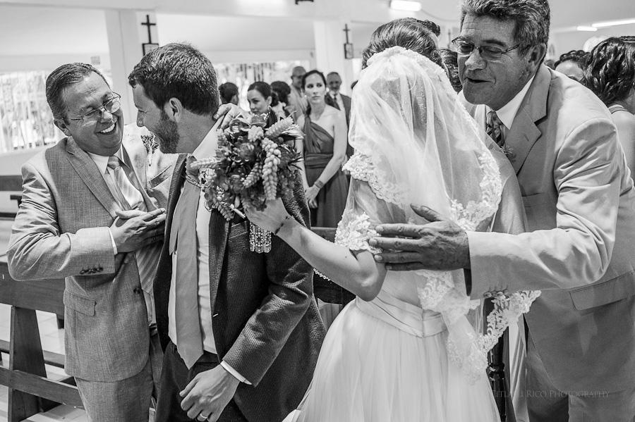 Bride and groom ceremony Lola y Bobby Ana Y Jose Tulum Mexico Wedding
