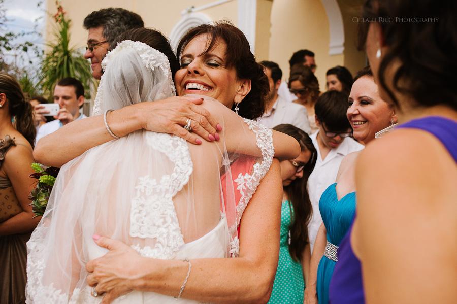 Bride and her mother Lola y Bobby Ana Y Jose Tulum Mexico Wedding