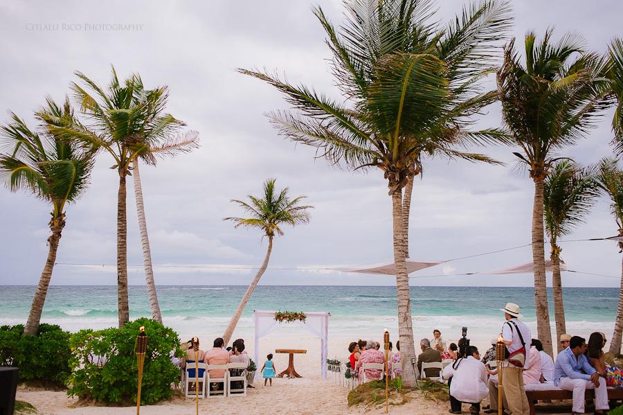 Beach wedding venue Lola y Bobby Ana Y Jose Tulum Mexico Wedding