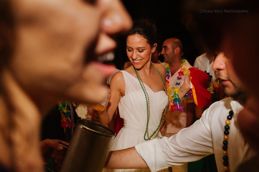 Bride dancing beach wedding Lola y Bobby Ana Y Jose Tulum Mexico Wedding