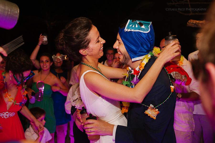 Bride and groom Dancing beach wedding Lola y Bobby Ana Y Jose Tulum Mexico Wedding