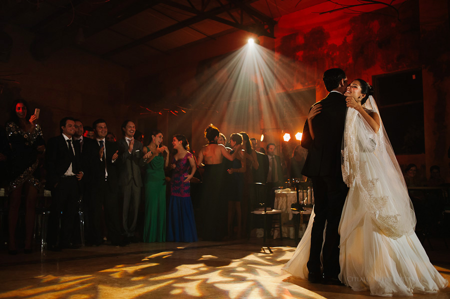 Bride and groom first dance in Mexican Wedding