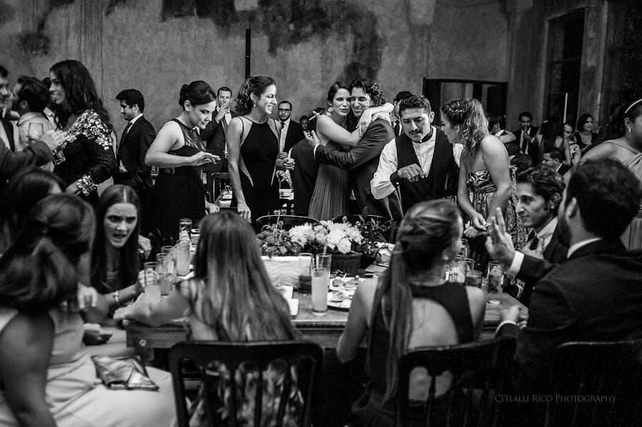 Wedding guests at Hacienda Hunxectaman reception
