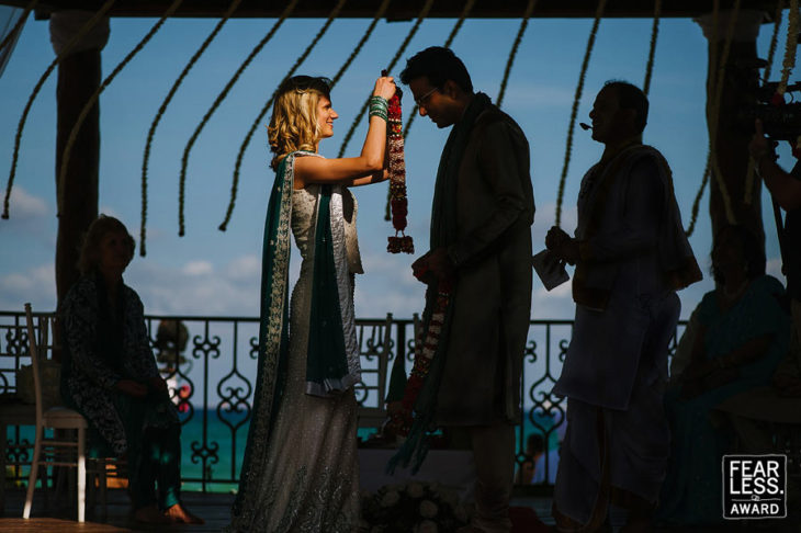 Indian Wedding ceremony bride and groom Playa del Carmen