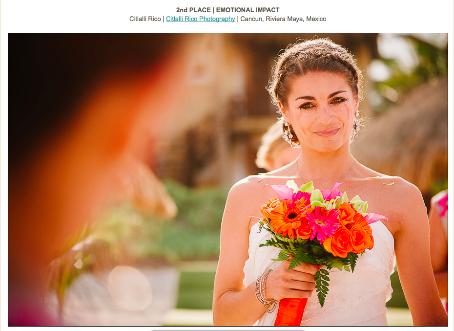 Bride walking down the isle crying emotional moment ISPWP Contest