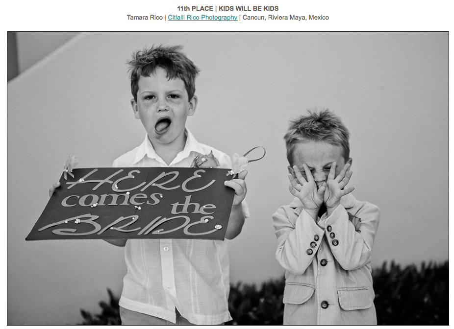 funny Kids at wedding ISPWP Contest