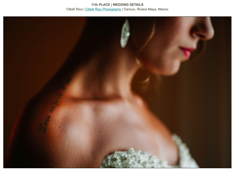 Bride portrait Love Tattoo ISPWP Contest