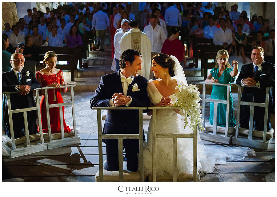 Bride-and-groom-ceremony-happy-MJ-Xcaret-Wedding-025