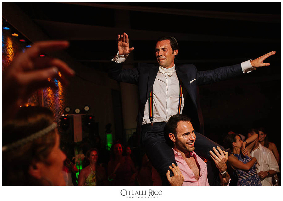 picking-up-groom-dance-floor-MJ-Xcaret-Wedding-035
