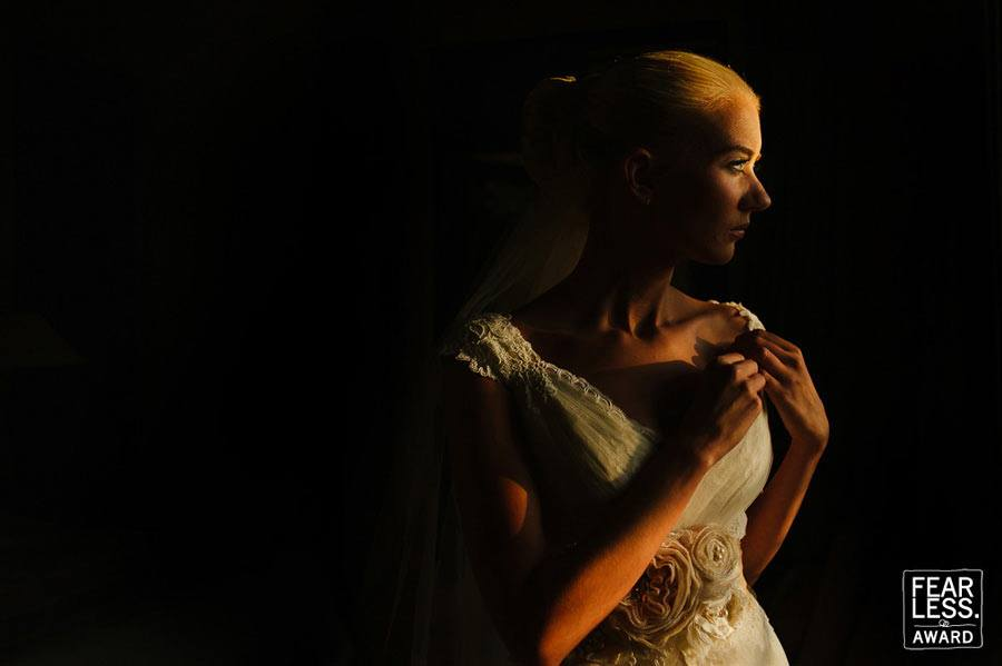 Fearless Awards Mexico Bride Portrait at Casa Buena Suerte in Tulum Mexico