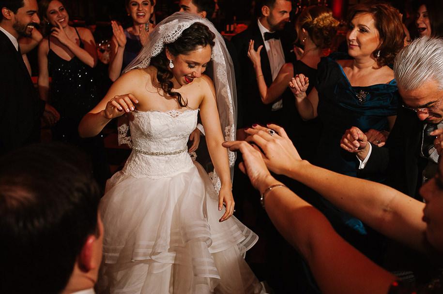Bride dancing on the dance floor