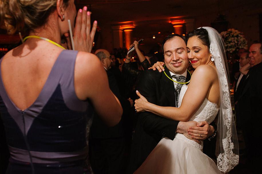 Bride and groom during reception in Monterrey
