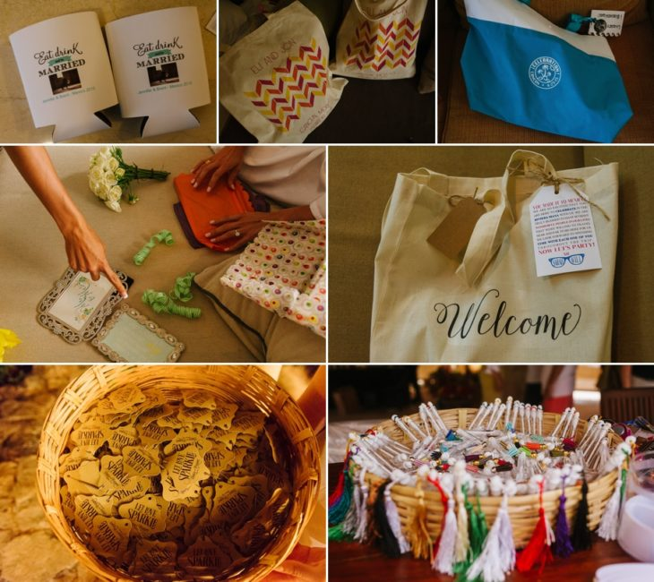 welcome bags ideas for destination wedding in cancun and riviera maya