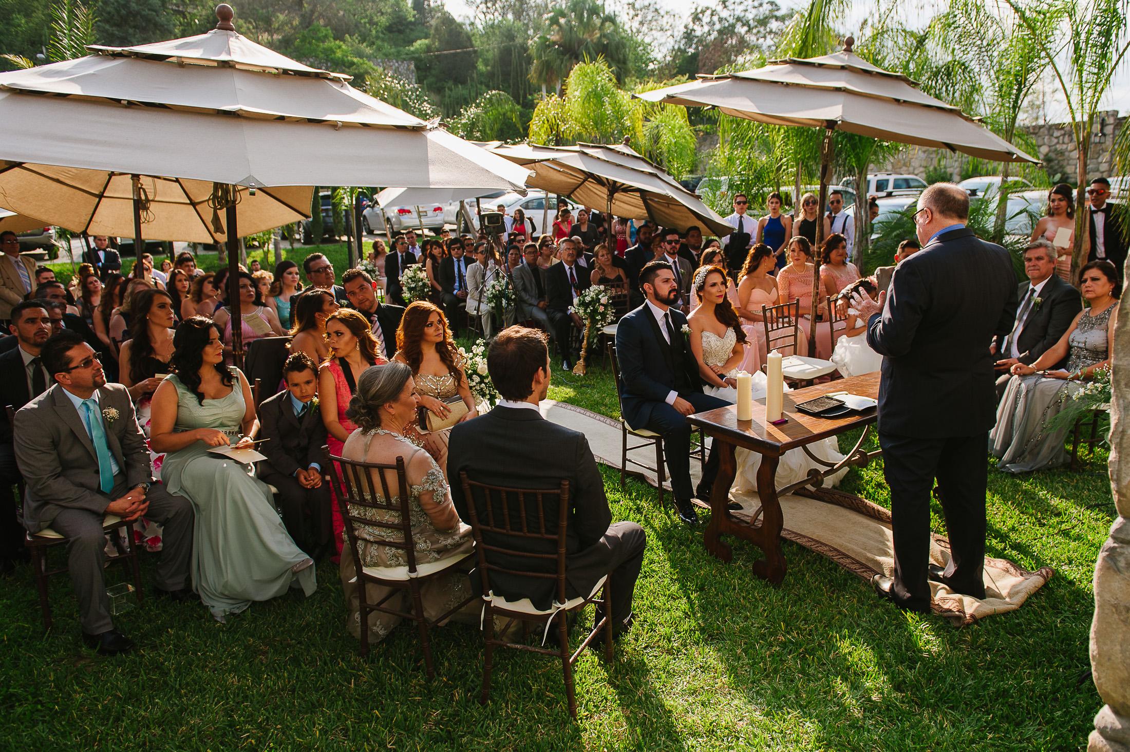 Ceremony setup in Antigua Hacienda de Santiago