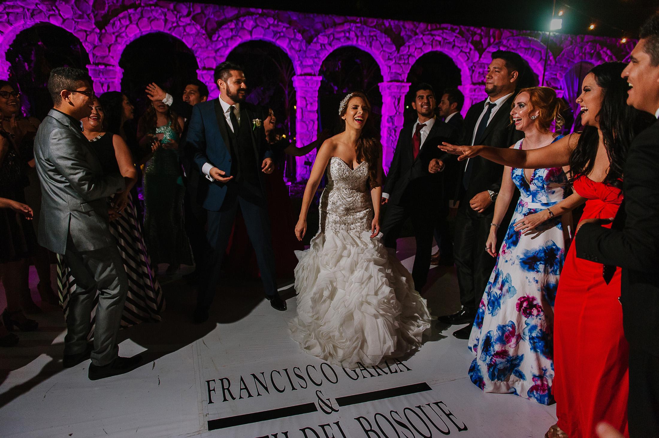 Antigua Hacienda de Santiago wedding reception