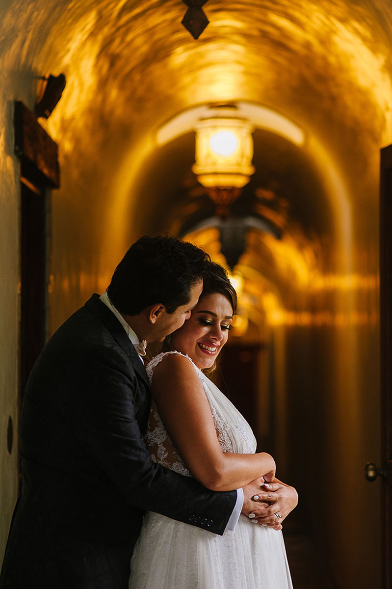 Beautiful Hacienda wedding venue portrait in Cuernavaca