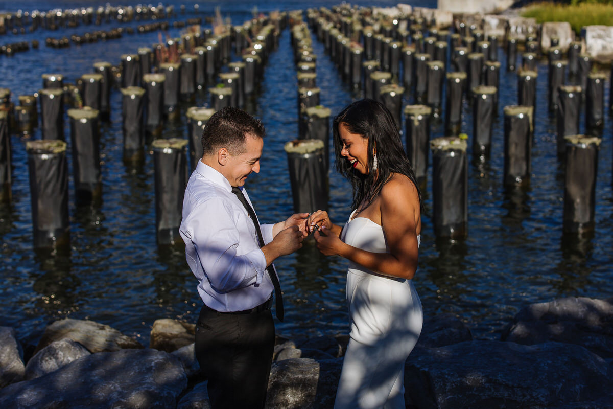 Vow renewal at Pier One in Brooklyn