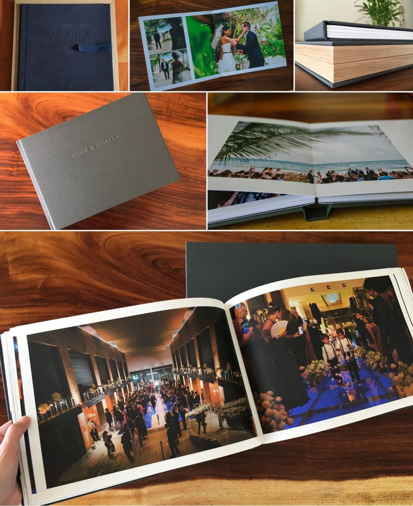Collage of wedding album images by Citlalli Rico Photography
